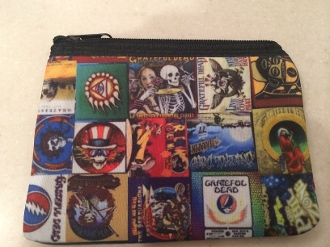 Grateful Dead Zipper Wallet