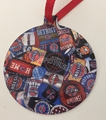 Detroit Pistons Ornament- Browning