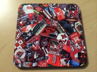 Miami of Ohio Coaster 4 Piece Set