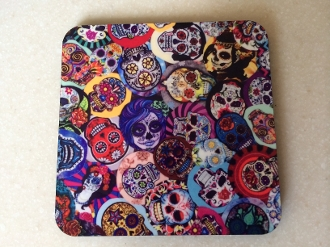 Sugar Skull Coasters/Day Of The Dead 4 Piece Set