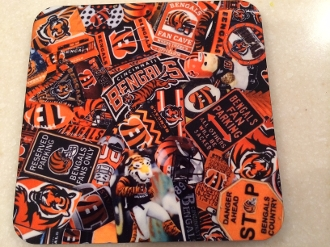 Cincinnati Bengals Coasters 4 Piece Set