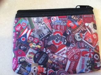 Ohio State Zipper Wallet