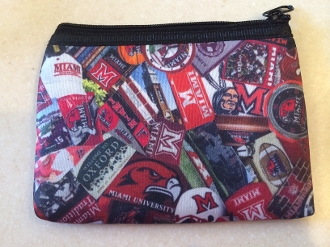 Miami University Zipper Wallet