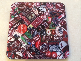 Alabama Crimson Tide Coaster 4 Piece Set