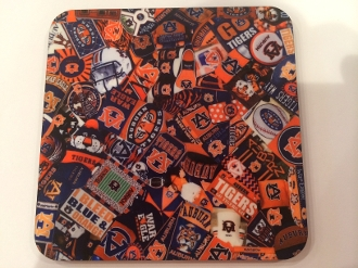Auburn Tigers Coasters 4 Piece Set