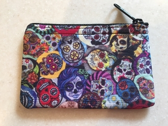 Sugar Skulls Zipper Wallet