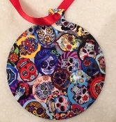 Sugar Skulls/ Day of the Dead/Coco Ornament