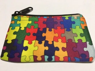 Autism Awareness/Acceptance Puzzle Piece Wallet